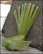 Flax weaving instructions - fantail