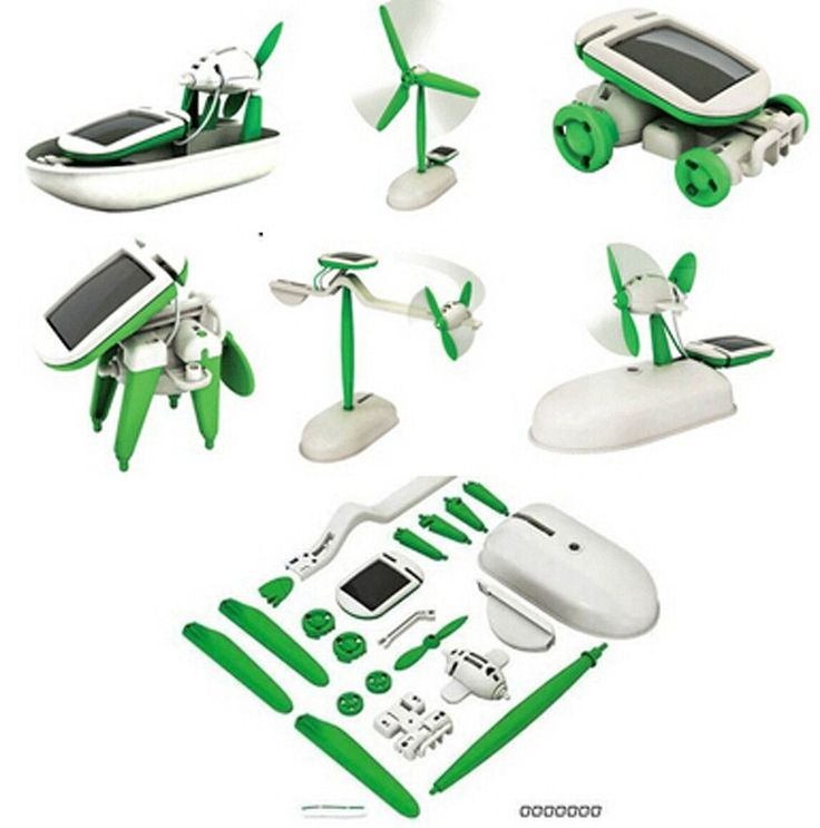 DIY 6-in-1 Magic Mini Solar Energy Powered Educational Toy