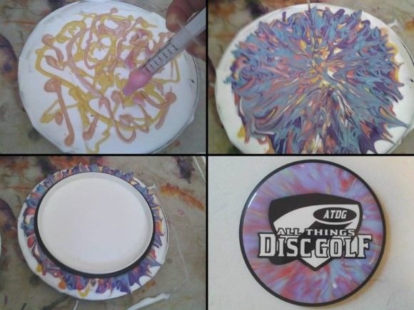 Tips and a walkthrough on how to dye disc golf discs. Details on the best plastics to use and proper steps for stencil dyes and shaving cream dyes.