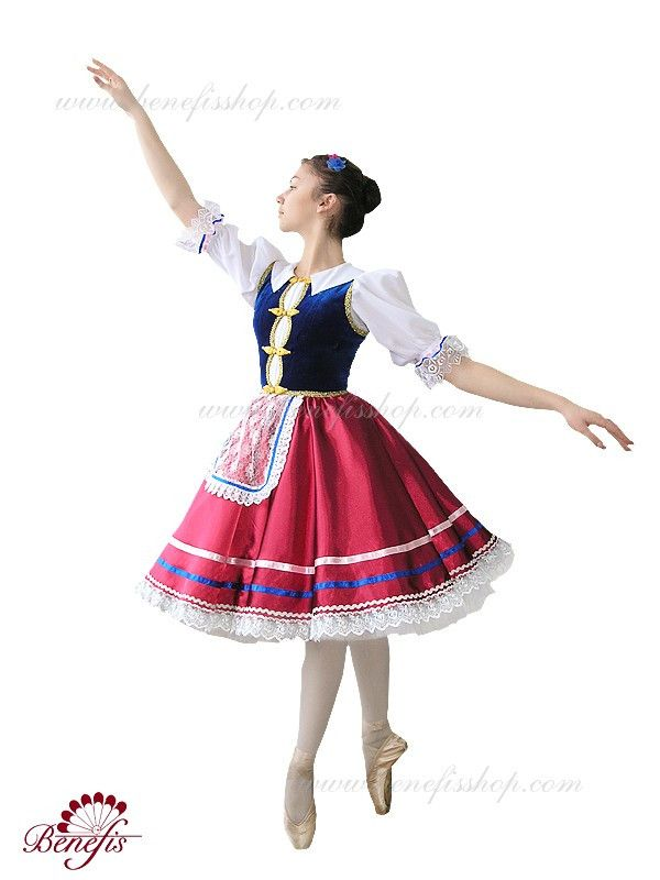 """Details: dress, petticoats. This colorful national costume is perfect for dance """"Czardas"""". The traditional red skirt is decorated with a wide lace and satin ribbons on the bottom. Petticoats made of t"""