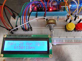 Buscando información para un proyecto de un reloj con calendario y RTC me encontré con un programa de un reloj sin RTC mucho más completo que el que ya tenia publicado en Arduino: Reloj simple sin modulo RTC DS1307. Este reloj utiliza una librería llamada TimedAction