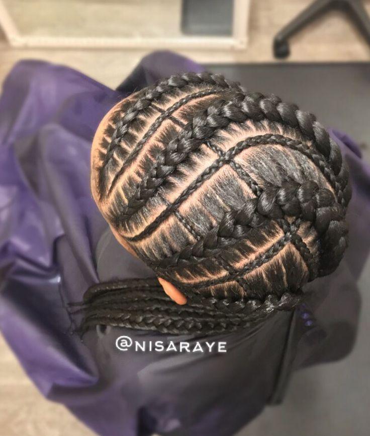Beautiful braided design @nisaraye - https://blackhairinformation.com/hairstyle-gallery/beautiful-braided-design-nisaraye/