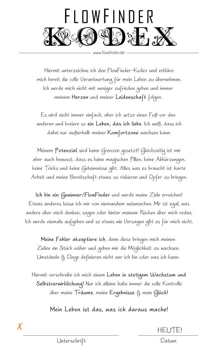 Der FlowFinder-Kodex