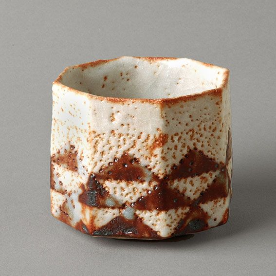 Suzuki Osamu, Japan (b.1934) | Mino-based artist specialising in Shino wares. The technology of Shino wares was originally developed in Mino in the late sixteenth century. It was used primarily to produce imitations of imported Chinese porcelain, but it was also harnessed to the making of an important body of tea wares.