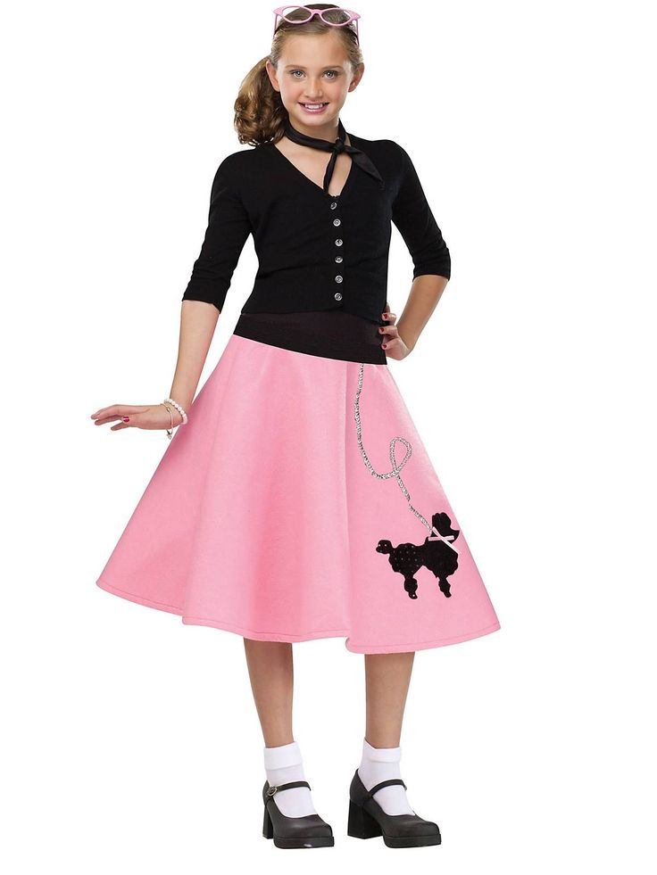 Poodle Skirt Costume | Cheap 50s Costumes for Girls