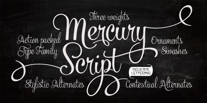 Mercury Script Chalkboard Font
