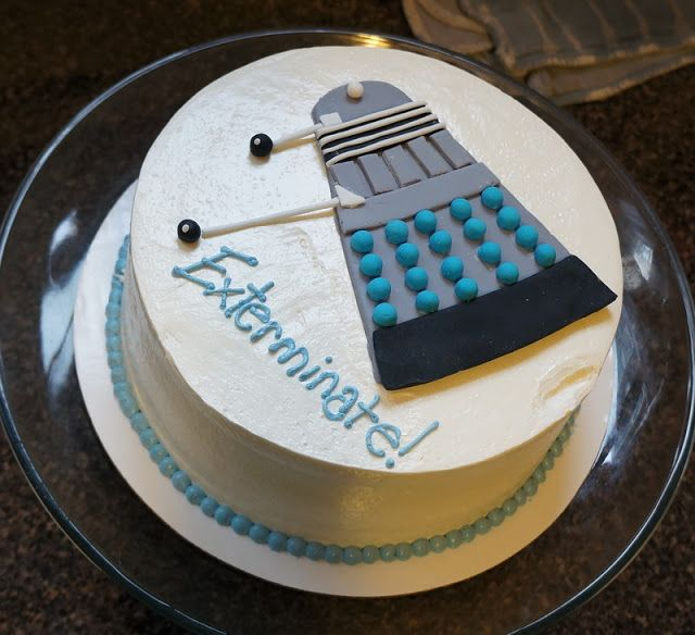 theo's seventh birthday and doctor who party.  dalek cake from sugar fixe in oak park, illinois. | tiny scissor times