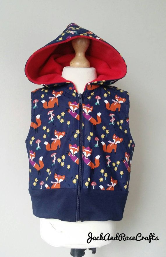 Check out this item in my Etsy shop https://www.etsy.com/uk/listing/470509732/fox-gilet-girls-bodywarmer-girls-vest