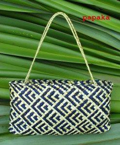 Te Ika - Fish. Maori weaving - Kete Whakairo (patterned baskets) by Anne Eddy