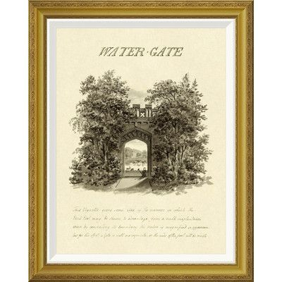 Global Gallery 'Water-Gate, 1813' by Humphry Repton Framed Wall Art