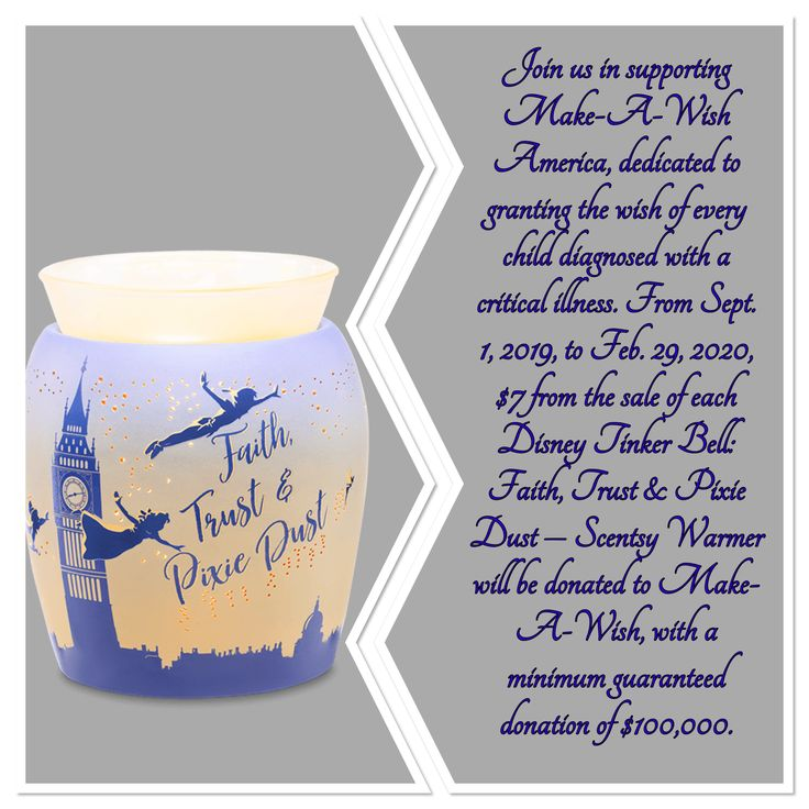 For every Tinker Bell Faith Trust & Pixie Dust warmer sold