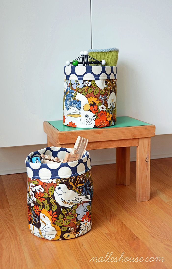 Handmade Fabric Storage Baskets : Images about crafts to make on muslin