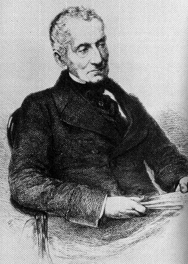 Klemens von Metternich in old age. Engraving or drawing based on a photograph.