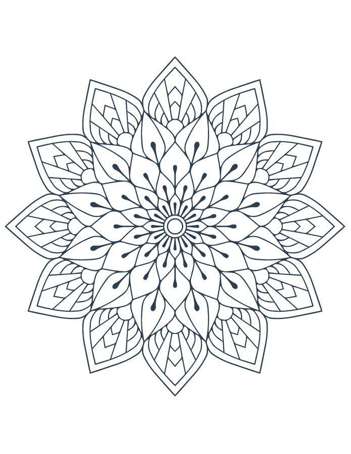 Coloriage Mandala Artherapie A Imprimer Gratuit Pictures To Color