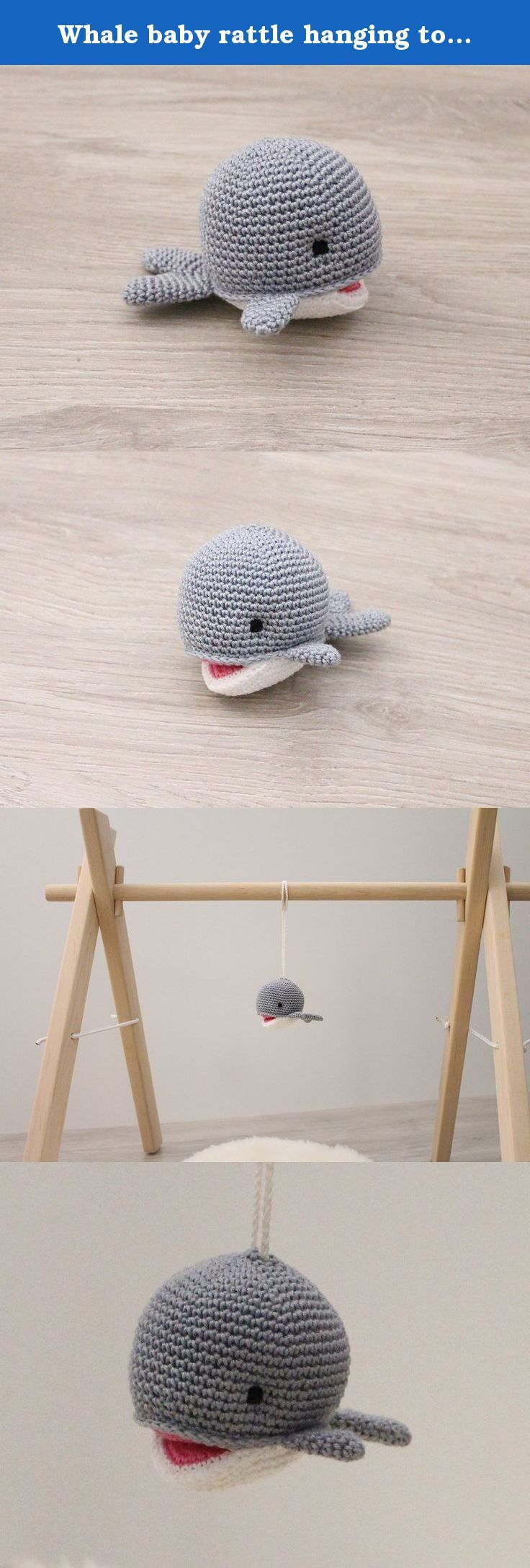 Best crib toys your baby - Whale Baby Rattle Hanging Toy Baby Gym Toy Crib Toy Shower Gift