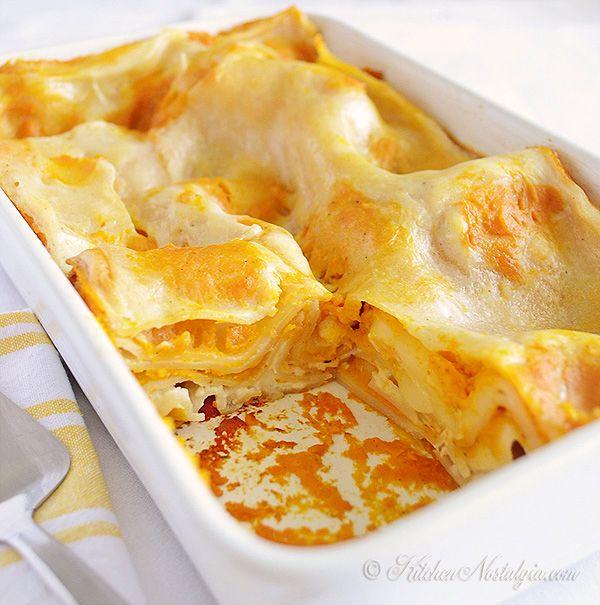 Butternut Squash Lasagna - incredibly creamy, light and healthy,  Italian comfort food - kitchennostalgia.com