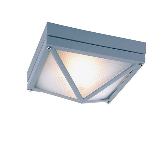 Craftsman Ho Ail Rust 8.5-Inch Diamond Outdoor Flush Mount Ceiling Light - (In RT-Rust)