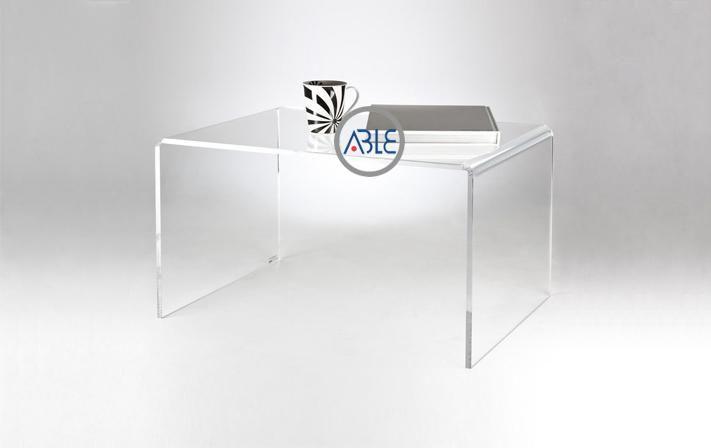 Custom Study Room Acrylic Table One Pice Acrylic Made Able
