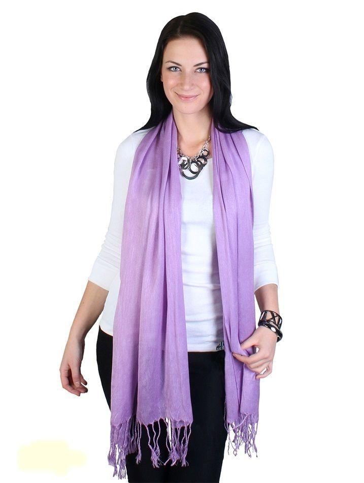 "Lilac Pashmina Silk Blend Fashion Scarf Wrap 72"" X 40"" NEW NWT #NorthSouthFashions #Pashmina"
