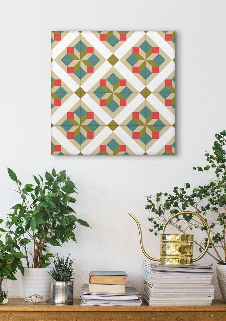 Wall Canvas Art, Tile Design, Graphic Pattern, Canvas Print, Home Decoration, Wall Art, Geometric Art by Macrografiks on Etsy