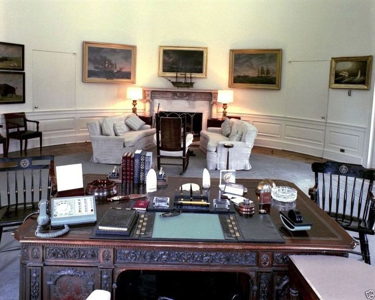 John F.Kennedy - View from behind the Resolute desk, Oval Office of JFK | eBay