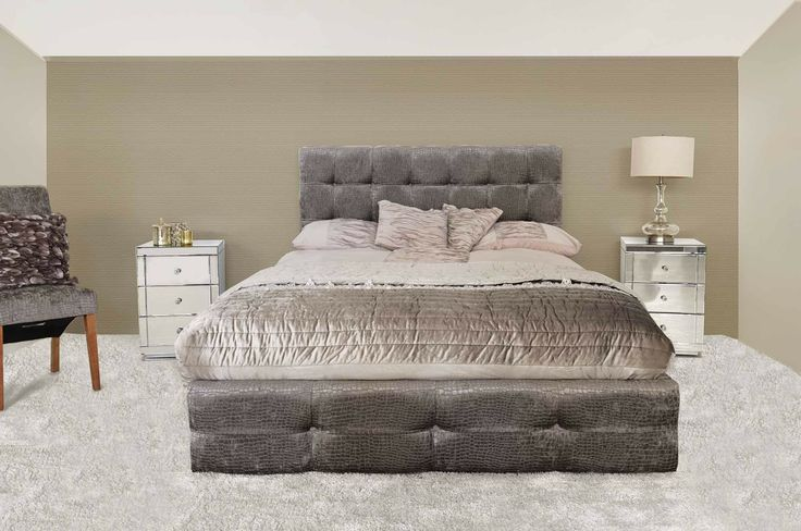 My Furniture Marco Ottoman Gas Lift Storage Bed Faux