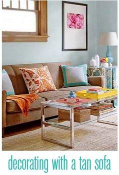 Enchanting Living Room Ideas Tan Sofa Contemporary Plan House