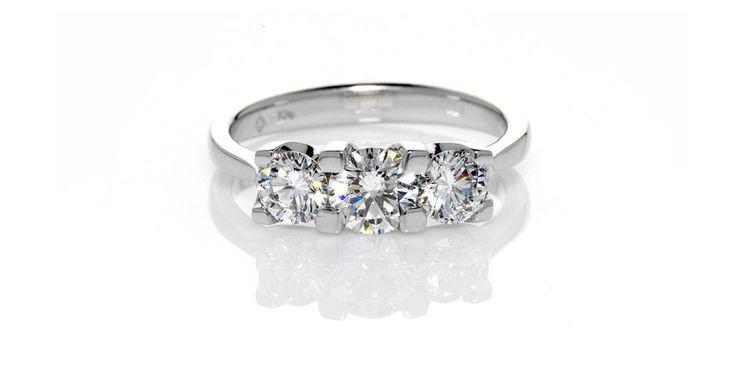 Avenza Three Stone. Michael Wilson Diamond Jewellers-Diamond Rings & Engagement