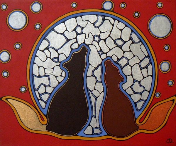 Moon Lesson by Jessica Dumoulin - Contemporary Canadian Native, Inuit & Aboriginal Art - Bearclaw Gallery