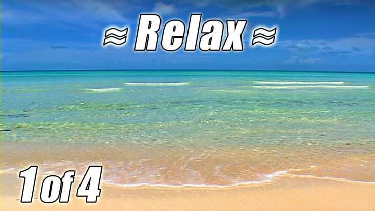 RELAXING VIDEO #1 Bahamas Beach Scene Ocean Waves Sounds Sea View Wave S...