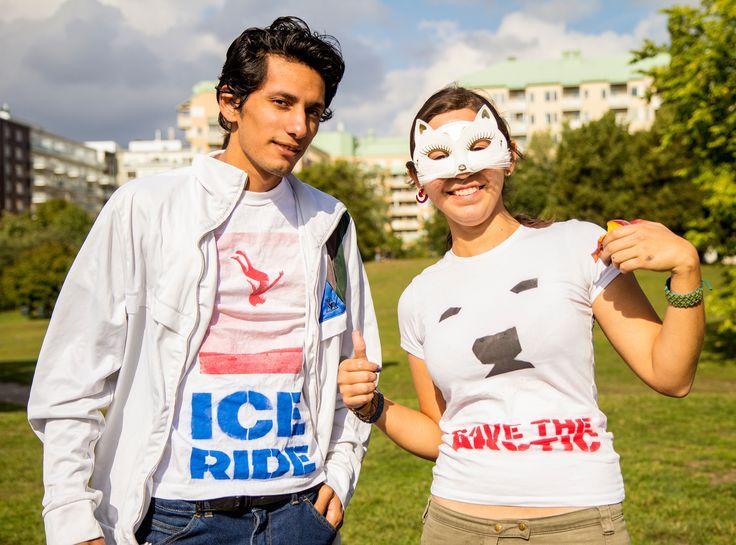 Glada deltagare i Stockholm   #IceRide #Stockholm