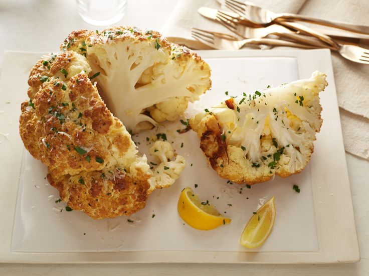 Mustard-Parmesan Whole Roasted Cauliflower Recipe : Food Network Kitchen : Food Network - FoodNetwork.com