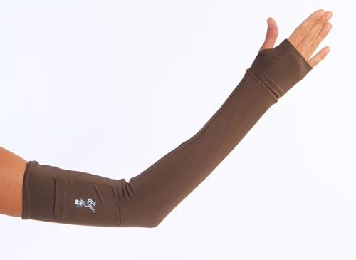 chocolate brown arm sleeves