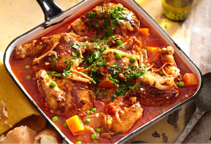 This simple one-pot chicken dish is fully of Portuguese flavours.
