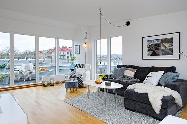 Smooth Details1 Compact Attic Apartment With a Gorgeous Simple Design in Sweden