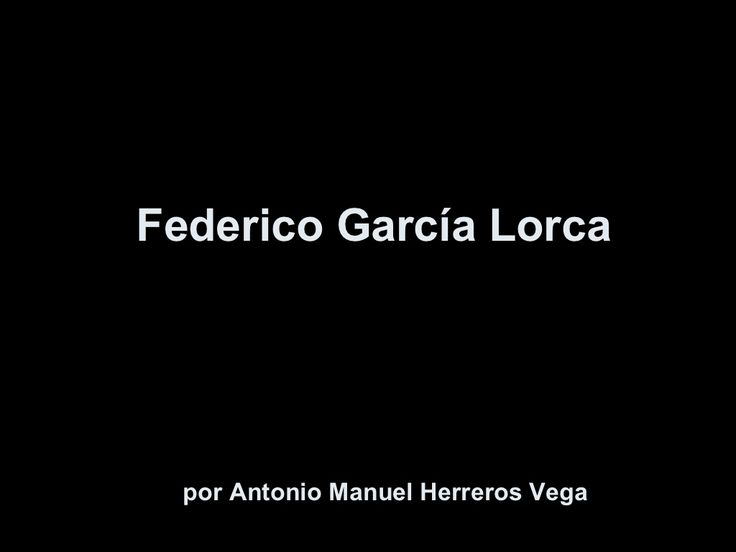 Federico garcía Lorca biografia para ninos