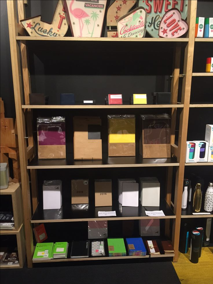 Daycraft diaries, notebooks and accessories on display at Magnation Emporium in Melbourne.