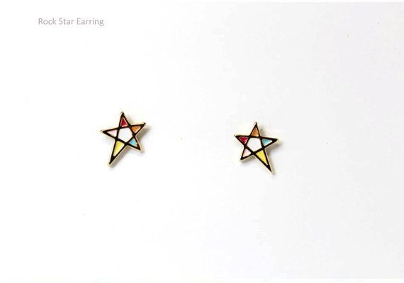Rock Star Earring by Myfunny on Etsy, $17.15