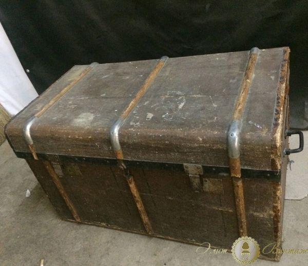 Реставрация сундука, регенерация старого деревянного сундука в Москве от Элит-Винтаж