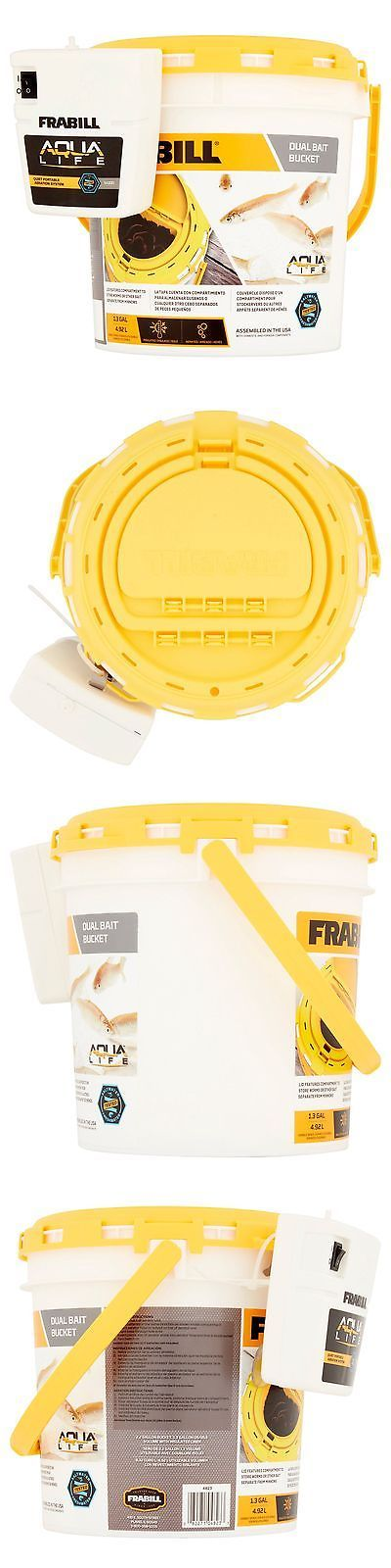 Bait Buckets 179986: Dual Bait Bucket W Clip-On Aerator Storage Compartment Lid Fishing Pail New -> BUY IT NOW ONLY: $37.25 on eBay!