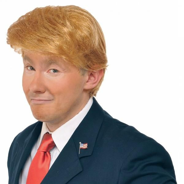 Dress up as your favorite or most despised billionaire politician with this comfortable costume wig that imitates Donald Trump's hairstyle!