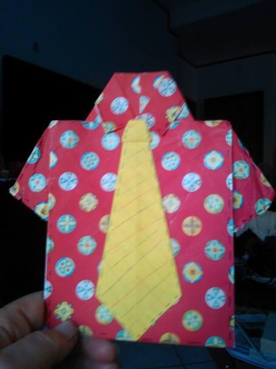 origami biglietto papà