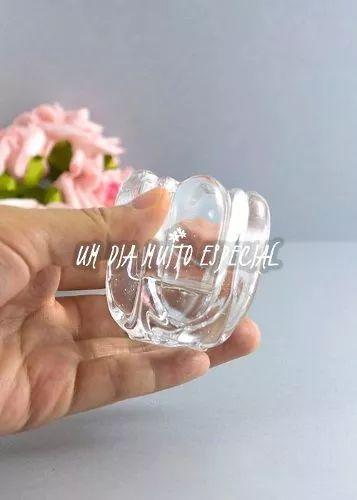 10 unds porta vela vidro redondo 5,5x4,5cm rechaud castiçal