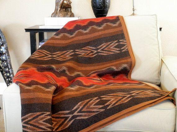 Pendleton wool blanket fabric vibrant Navajo design by UrbanCamp, $198.00