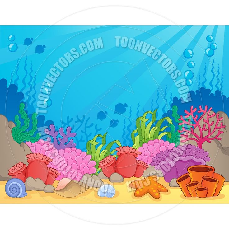 Coral Reef Cartoon Stock Illustrations – 6,083 Coral Reef ...
