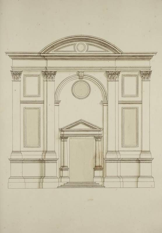 [Elevation of the Chiesa dell'Abbazia della Misericordia, Venice]. | King George…