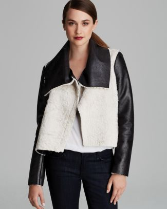 FRENCH CONNECTION Jacket - Mika Faux Shearling  Bloomingdale's