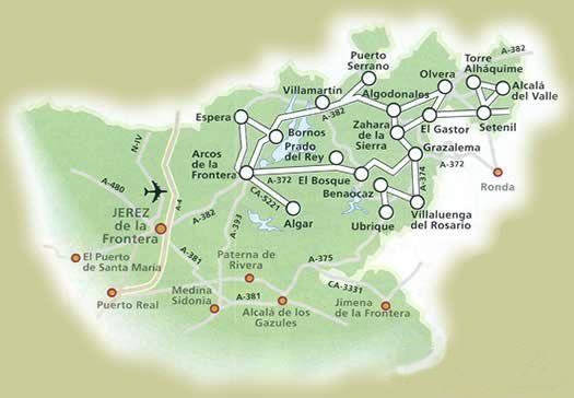 Route des Villages Blancs, Cadix (Andalousie)