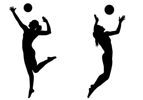 Illustration Abstract Volleyball Player Silhouette: Silhouette Vector Blog Free Silhouette Illustration
