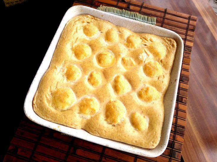 Túrógombóc sütőben sütve, fűszeresen - Curd cheese dumpling with sweet and spicy sour cream